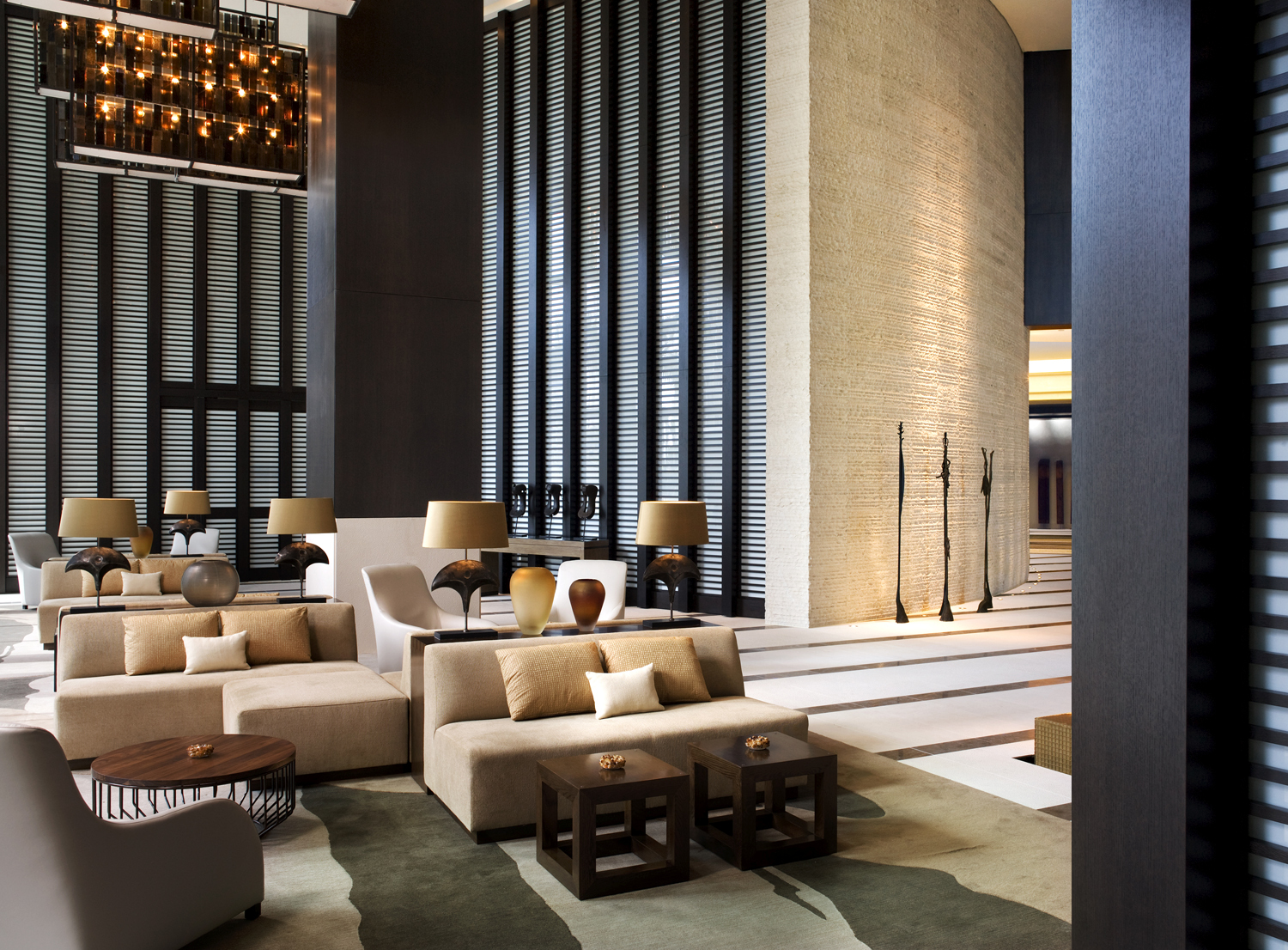 Trendy design and sophistication. The lobby of Miami's Kimpton EPIC hotel.